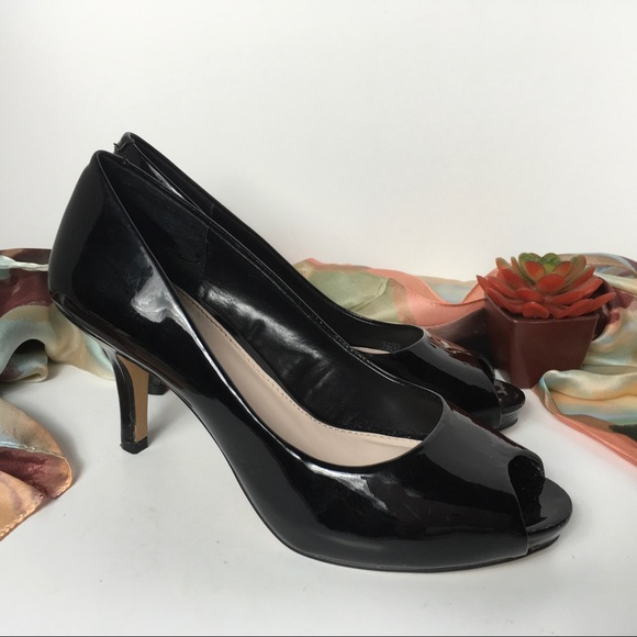 d24252fd87 Vince Camuto Shoes | Peep Toe Black Patent Leather Slip O | Poshmark